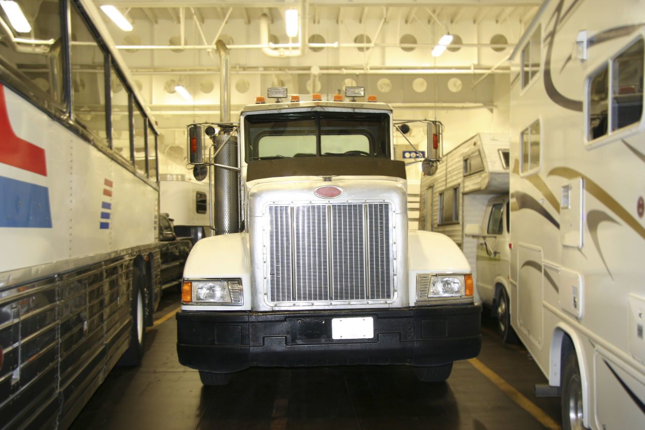 Truck in a Ferry - Peterbilt Truck Canada Delivery Ferry Freight Transportation Front View Grille Illuminated Indoors  Industry Inside Logistics Lorry Majestic Nautical Vessel No People Parking Peterbilt Semi-truck Shipping  Stationary Transportation Travel Truck Truckerslife White