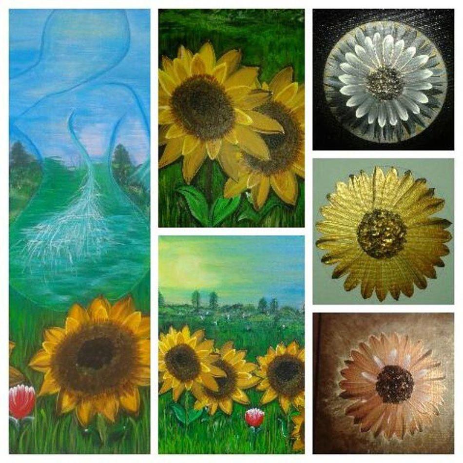 Art Peinture Acryliques Instaart mondéliredumomenttournesol fleurflowerinstacoolinstagoodfollowpaintingscanvasarteflowerart abstraitréeltableauélémentterreeauairfemmededosimaginationjem' occupe;-)@gagnonart