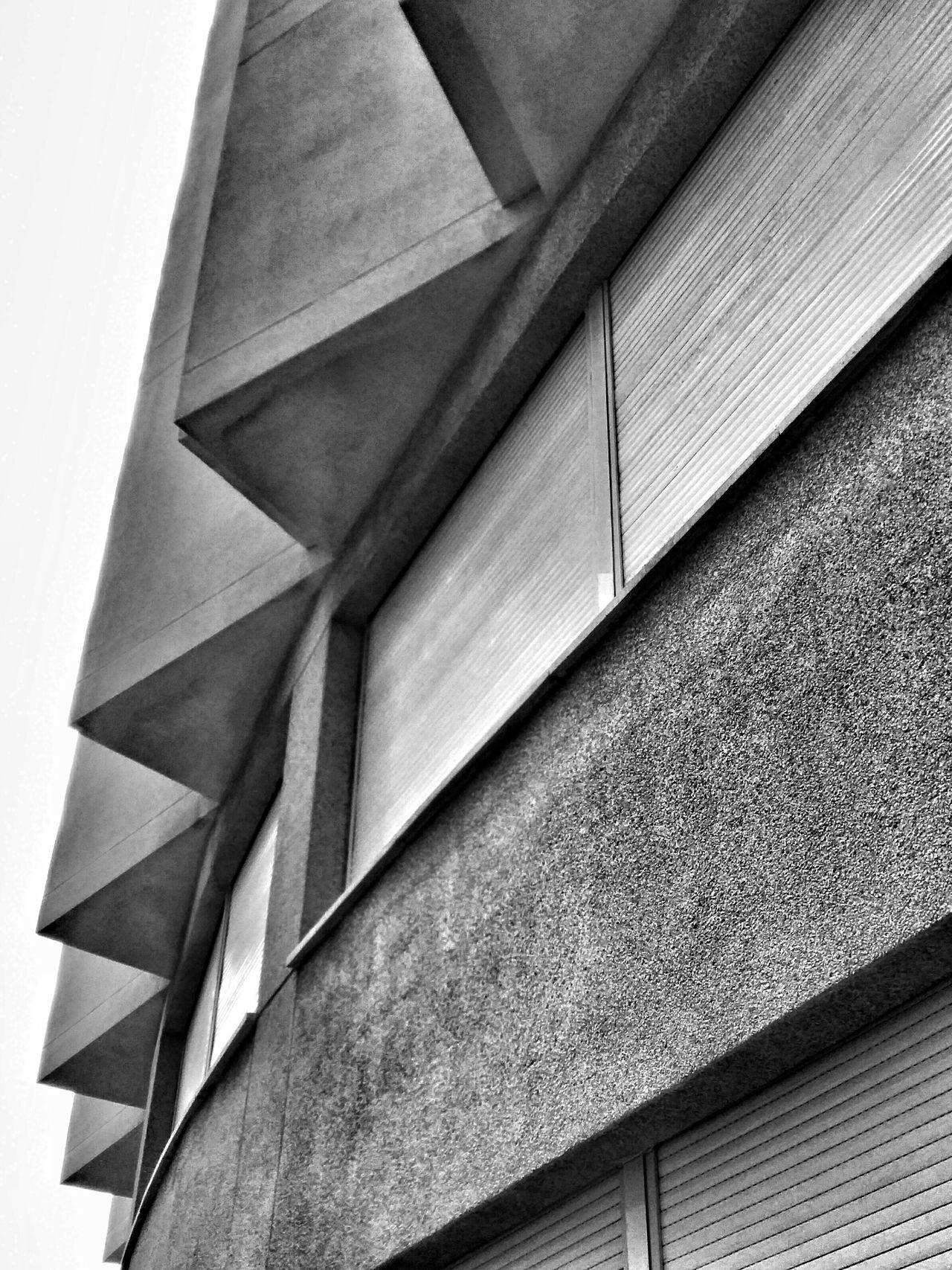 Black & White Monochrome Urban Geometry Triangles Architectural Detail Geometric Shapes Facades