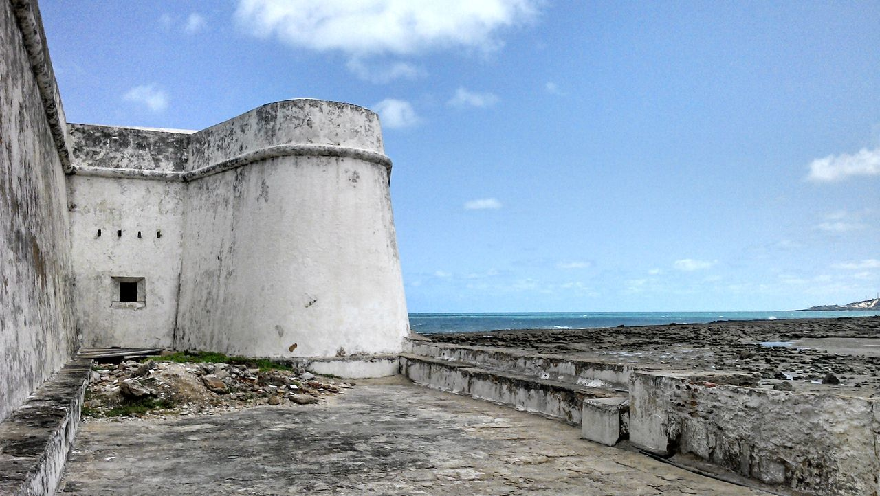 Forte dos 3 reis magos Architecture Beach Building Exterior Built Structure Cloud - Sky Day Historic Historical Building History Horizon Over Water Nature No People Outdoors Scenics Sea Sky EyeEmNewHere