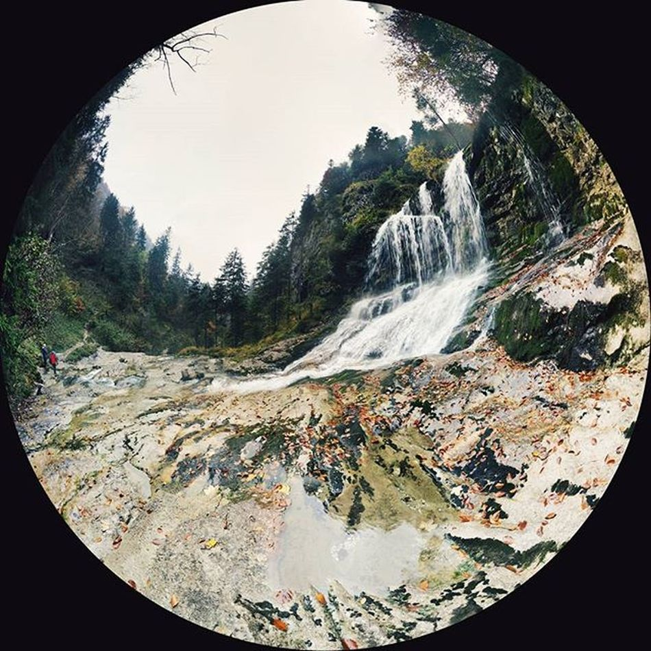 Third Day of our Vacation in Inzell Bavaria These are the Weißbachfälle of the Weißbach near Weißbach and the Weißbachschlucht Turnschuhe Sphere Panorama Pano Nature Waterfall Landscape Weißbach Schneizlreuth Germany Vscocam VSCO