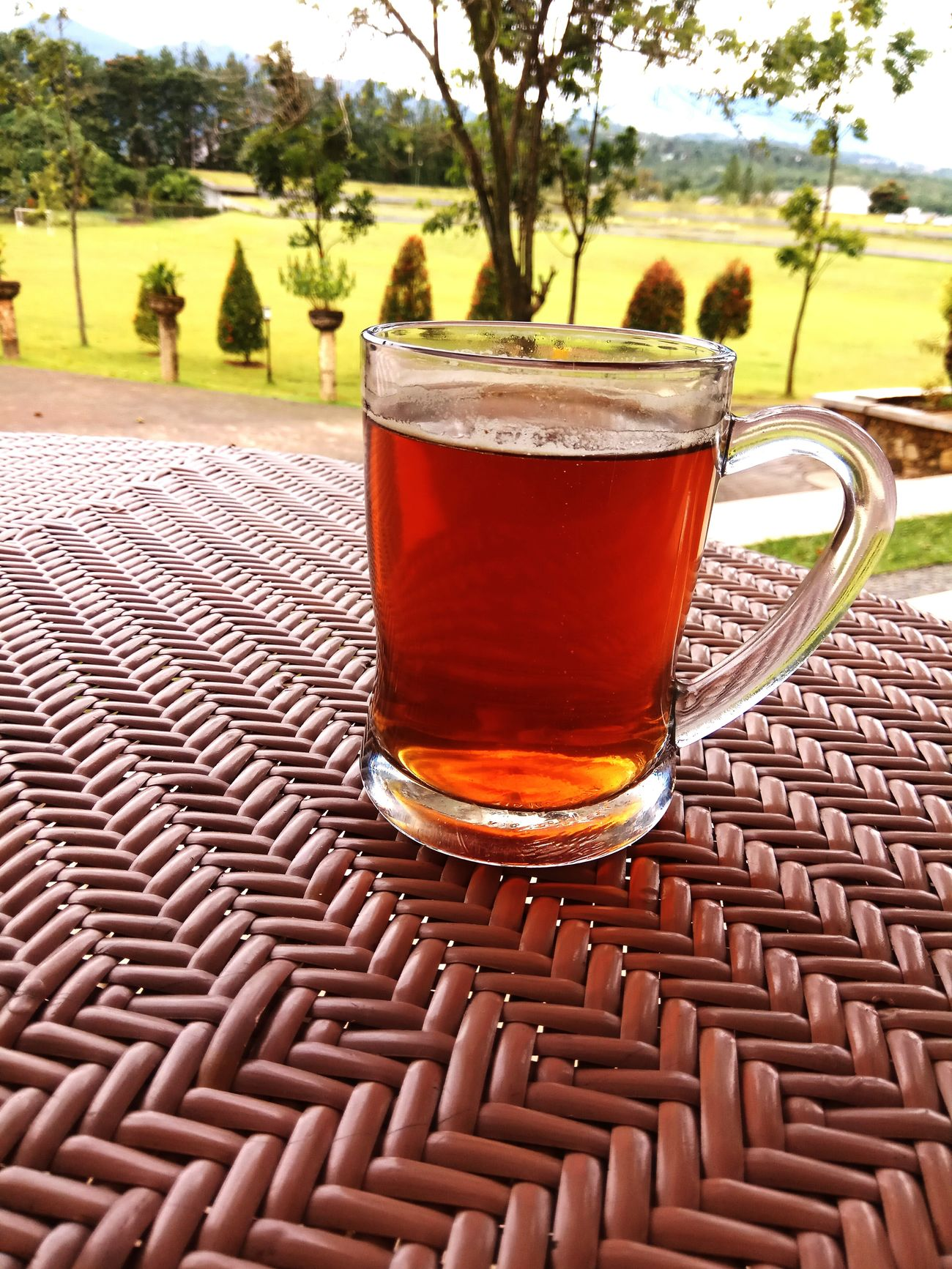 Drink Food And Drink Refreshment Drinking Glass Tea - Hot Drink Table Tree Freshness Close-up No People Day Outdoors Teatime Tea Time Sentul