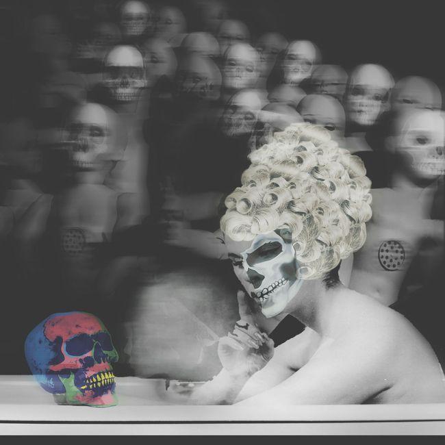 Photomontage Photomanipulation Digitalart  Photoart Darkart Skulls