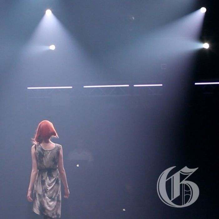 Bathed in light on the runway at Montreal Fashion Week