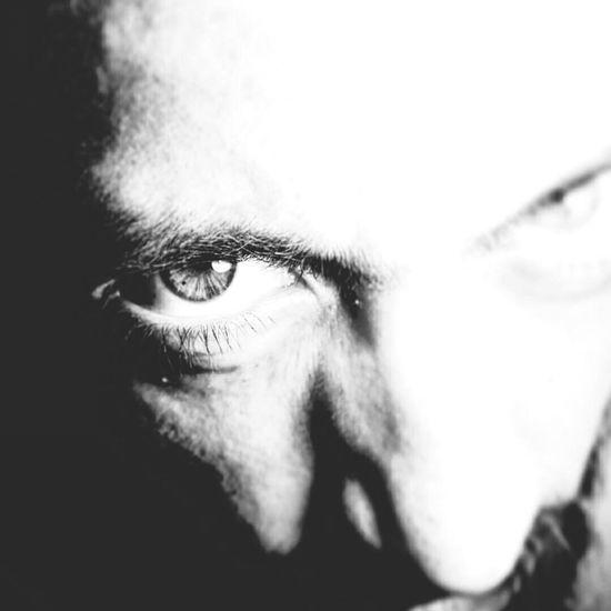 B&W. Darkness And Light Black & White Eyes Dark Portrait Uncoloured Oneye