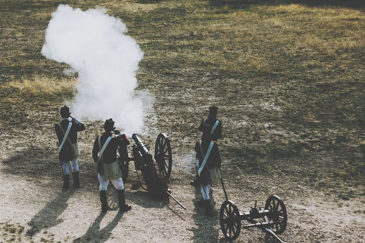 Smoke - Physical Structure Real People Outdoors Reenactment 1848 Revolution War Of Independence EyeEm Selects Hussar Cannon
