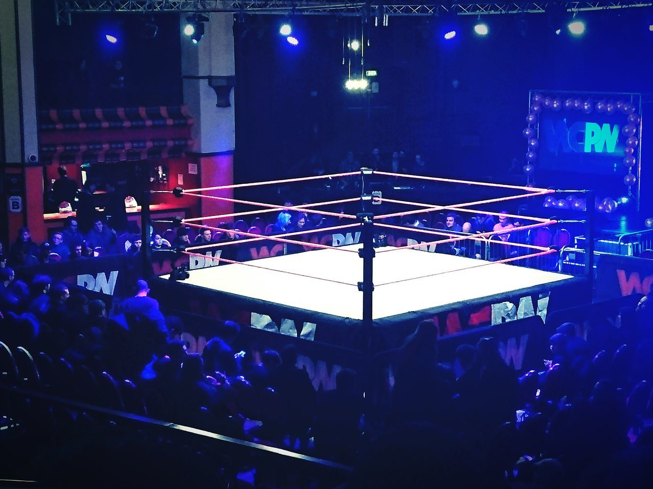 Large Group Of People Illuminated Night Crowd People Nightlife Performance Stage - Performance Space Audience Indoors  Stage Light Fan - Enthusiast Wwe WCPW First Eyeem Photo