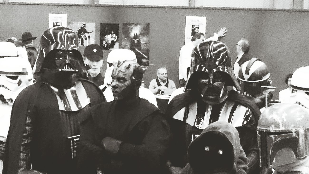 Stormtroopers Darth Vader Darth Maul Comiccon