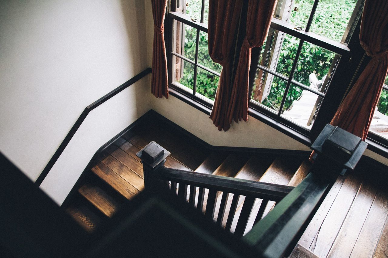 Indoors  Window Steps Railing Staircase High Angle View Steps And Staircases Stairs Bannister Day Railings No People Steps And Staircase Stair