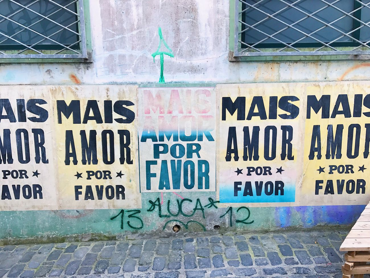 Text Communication No People Outdoors Brick Wall Morelove Poster Built Structure Community Outreach Day Azores City Ponta Delgada Close-up Building Exterior Architecture Spray Paint