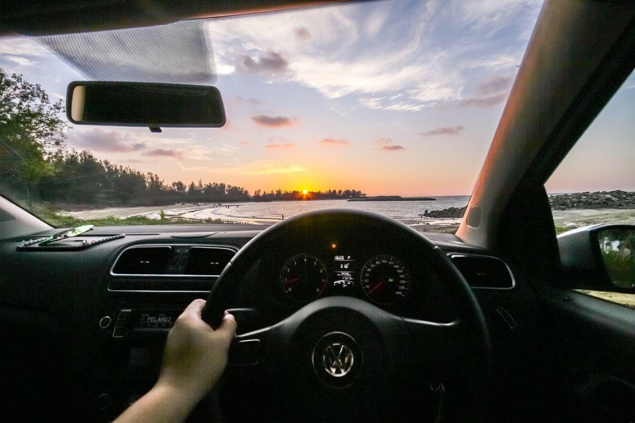 Car Vehicle Interior Sunset Beach Brunei Darussalam Brunei Pantai Tungku POV EyeEmNewHere EyeEmNewHere