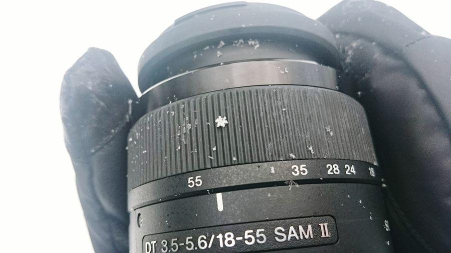 Close-up No People Military Day Snow Snowfalke Camera Camera Objective Winter Symétrie Symetric