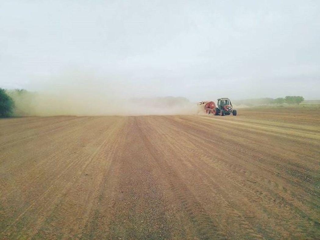 Farmwork Harvest Tractor Dusty