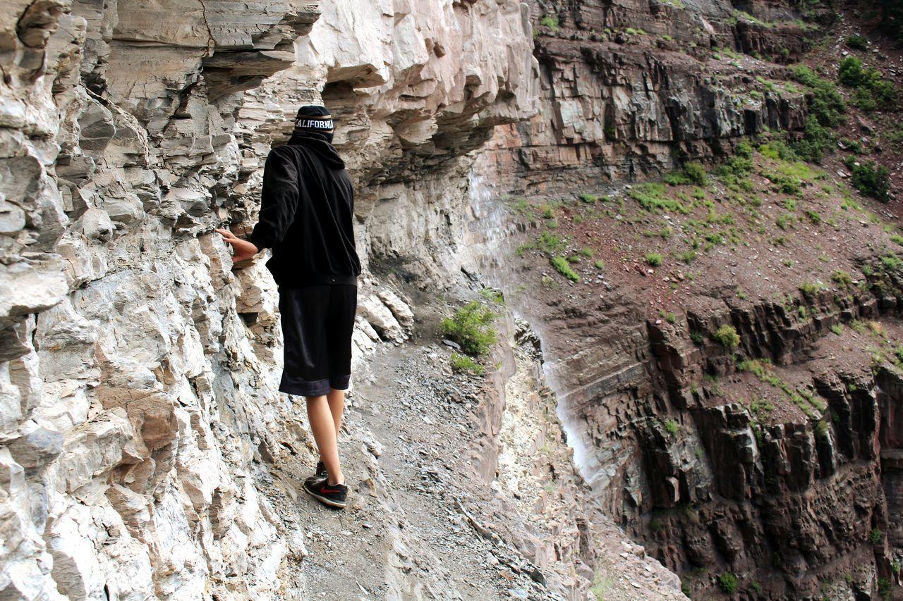 Brother Scary Cliff Adventure Exploring Closetonature Nature Waterfall Edge Dangerous NearDeath Rocks Slippery
