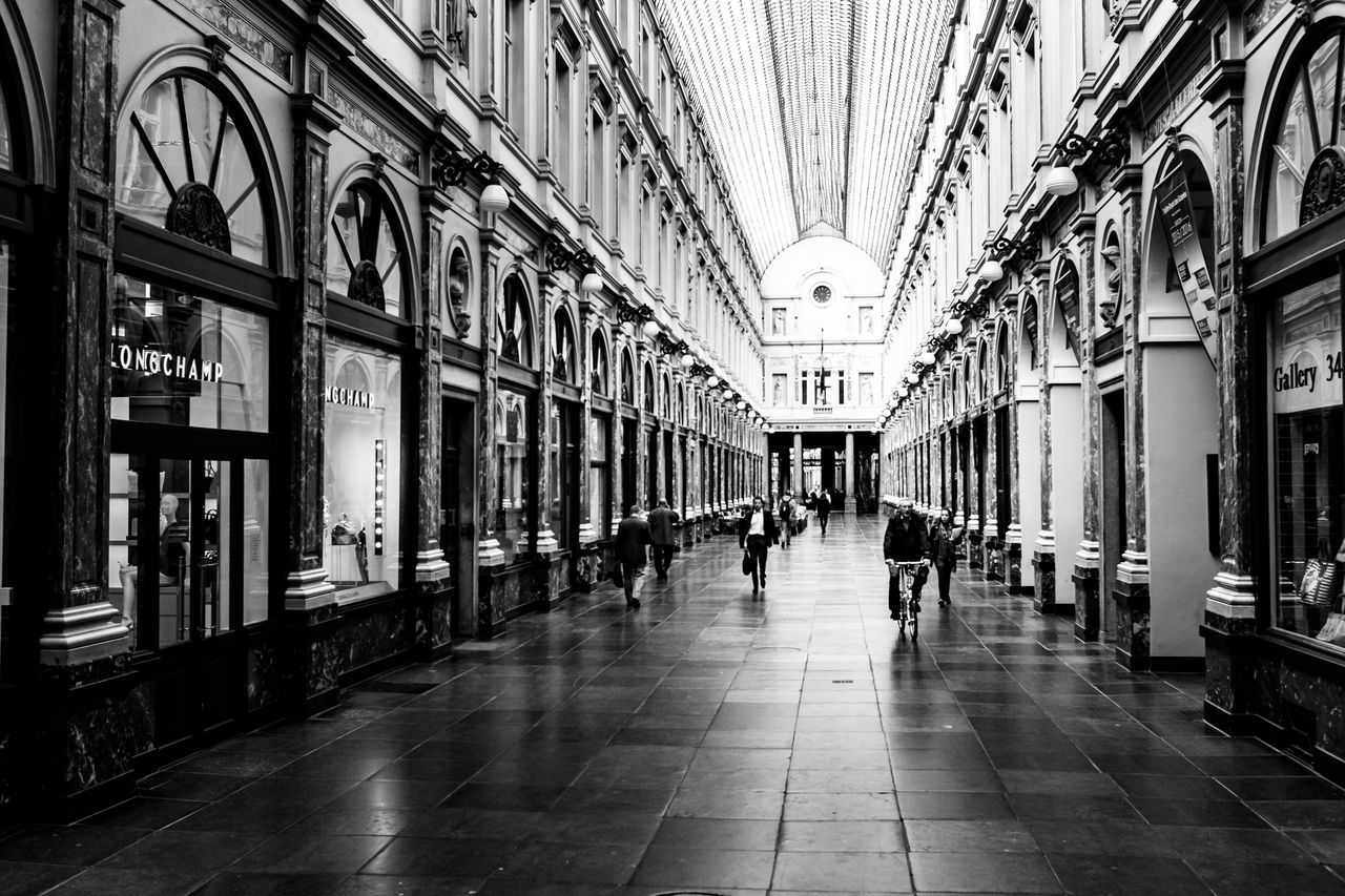 the way forward, architecture, indoors, built structure, real people, day, building exterior, city