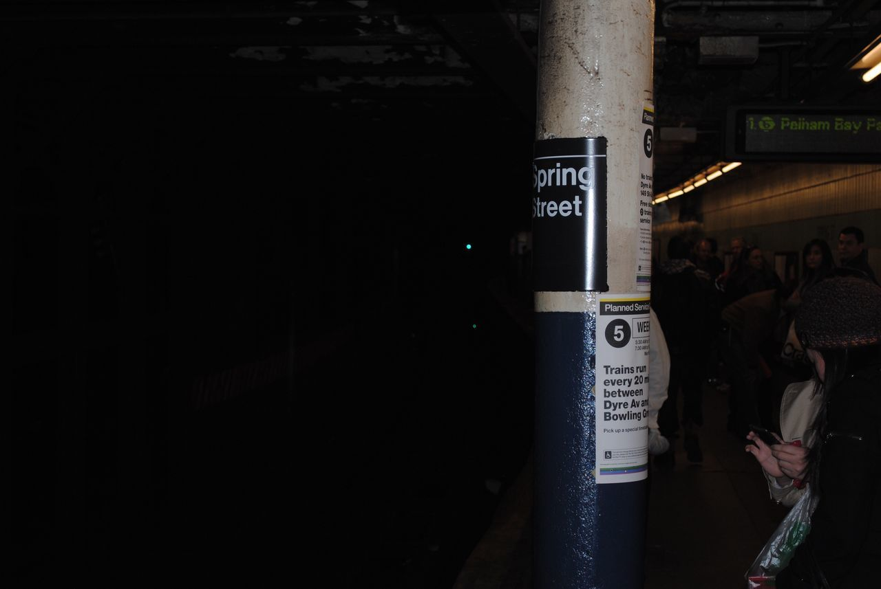 Interior Chelsea Chelsea Market Pole Column Dark NYC New York New York City Text Men Communication Night Real People City Illuminated One Person Architecture Outdoors People Adults Only Adult