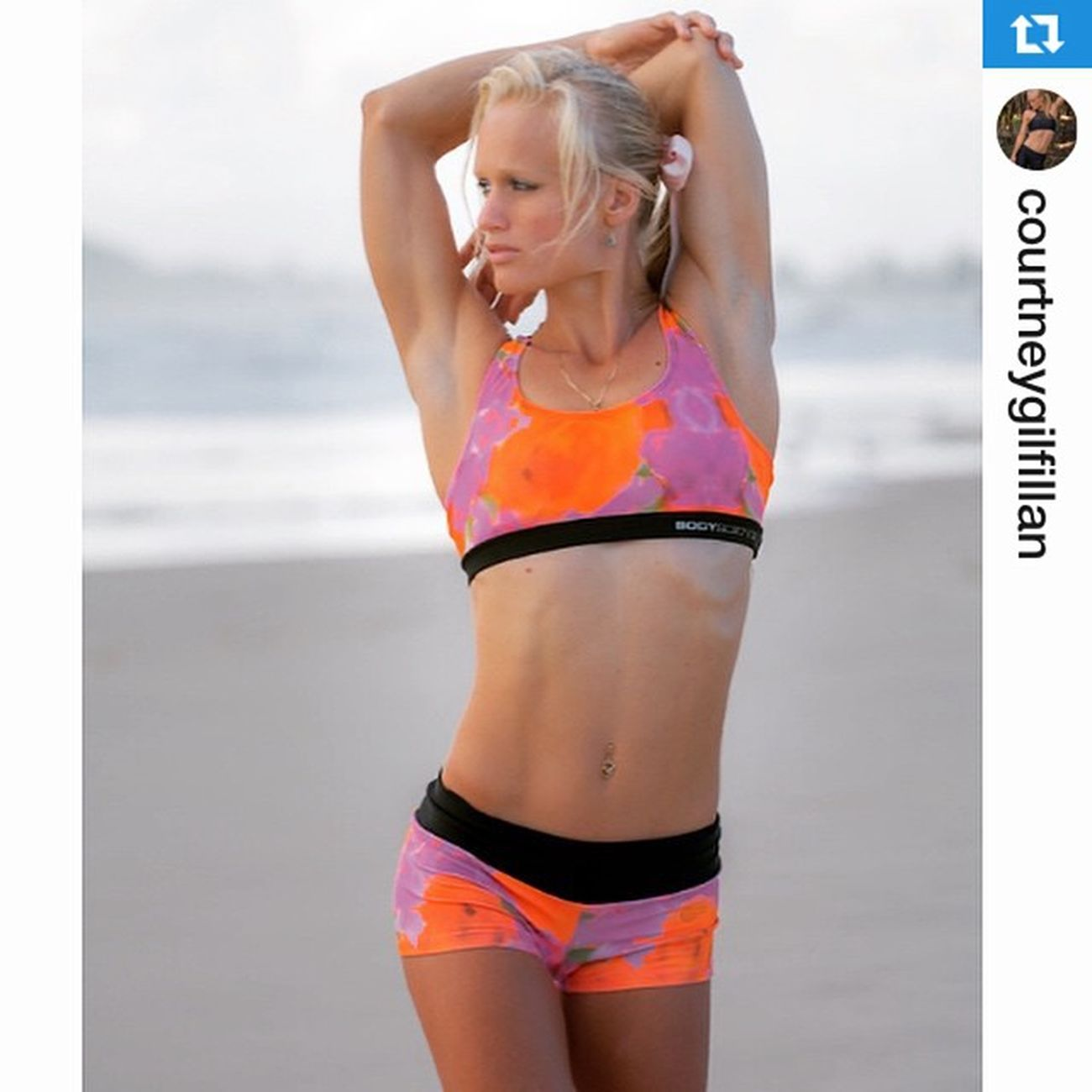 Repost from @courtneygilfillan taken during our shoot this week .・・・Love spending time exercising in my @bodyscience inflorescence crop top and shorts which are available online at www.bodyscience.com.au Activewear BSC Running Fitness Beachwalks PostRecovery Stretching Yoga Pilates GirlsLove2feelGood Excercise Comfort Fashion Athlete Athletes Beach Triathlete Triathletes Healthybod DressItWell LookGoodWhileExcercising @jkdimagery GoldcoastAthletes Currumbinbeach