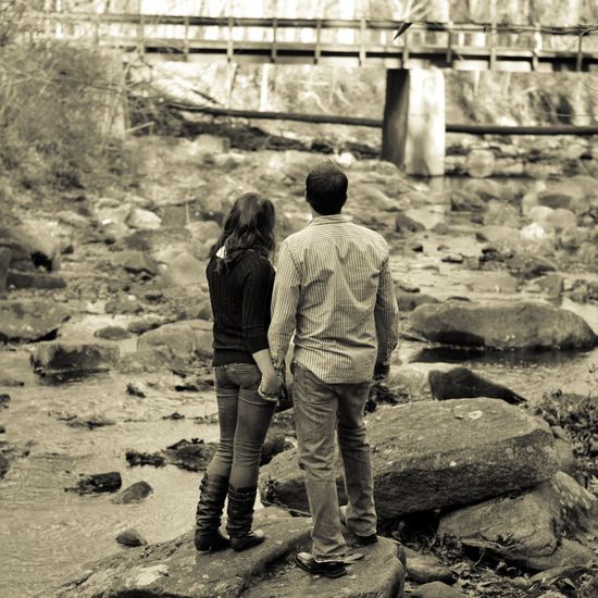 Two People Rear View Day Togetherness Real People Men Women Outdoors Adult People Nature River The Secret Spaces