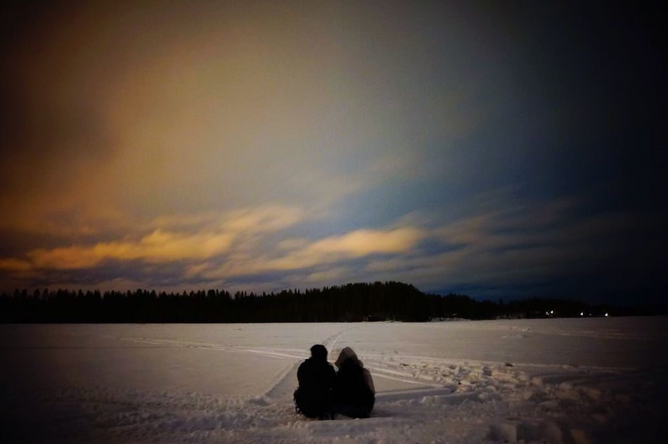 Finland Levin Kittira オーロラ ロバニエミ 湖上 フィンランド Aurora Snow White