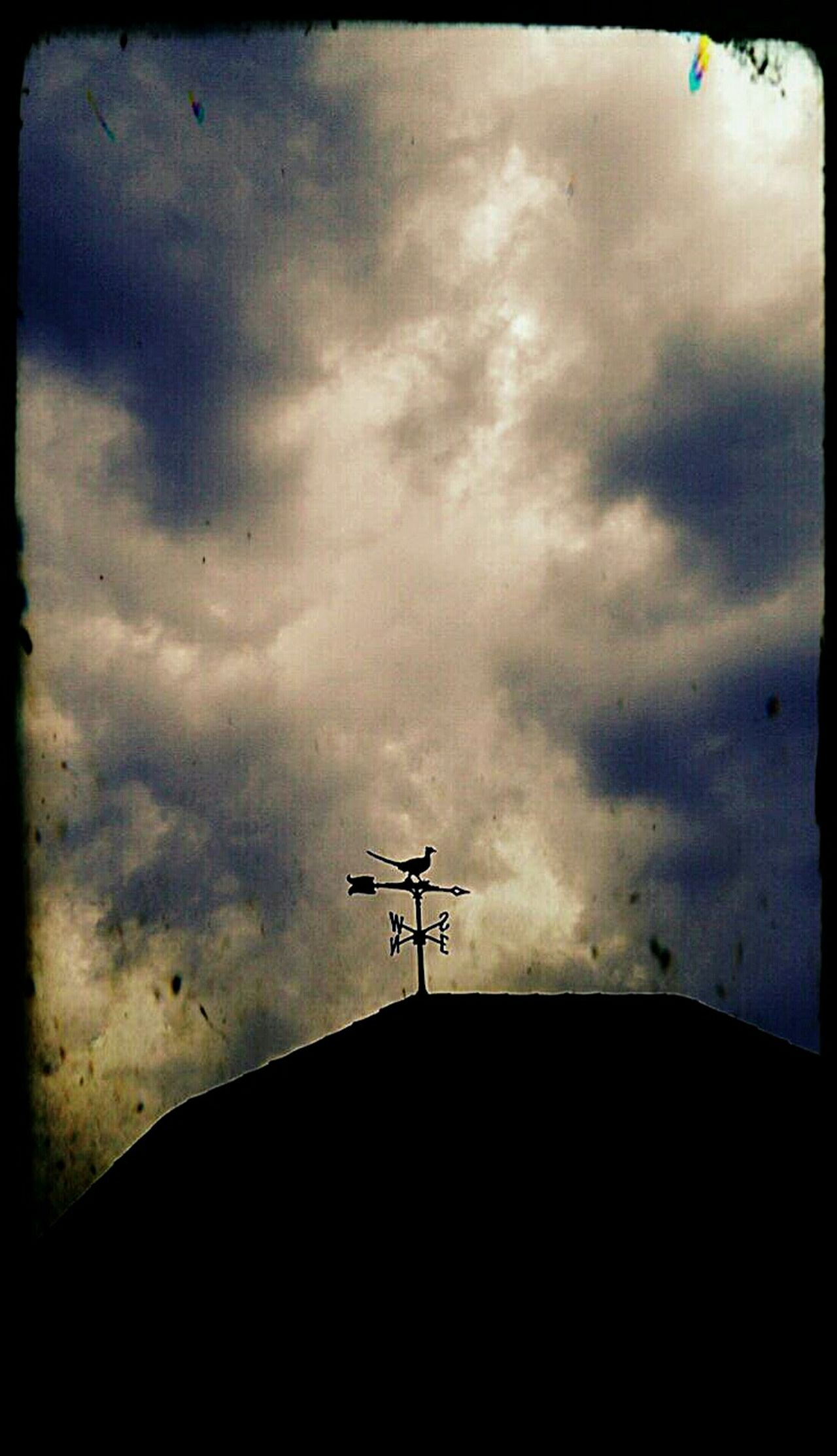 SkyPics Skyporn Cloudporn Cloud_collection  Weathervane Norcal Silhouette Storm Clouds North South East West Directions