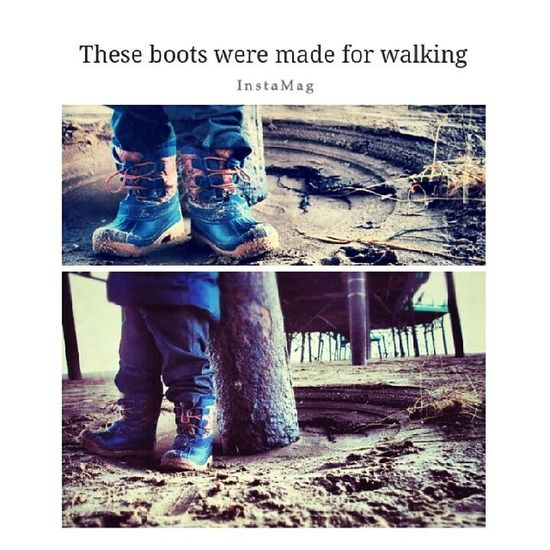 These boots were made for walking ;) Beach Pier Lythamstannes Stannes photo photography familydayout