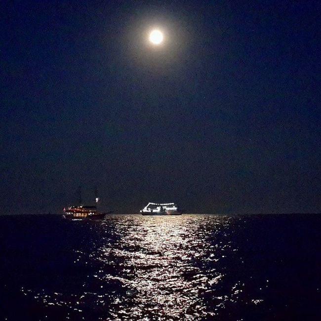Mersin Tasucu Gece Dolunay Akdeniz Gemi Yakamoz Ogemibirgüngelecek Ismailabi