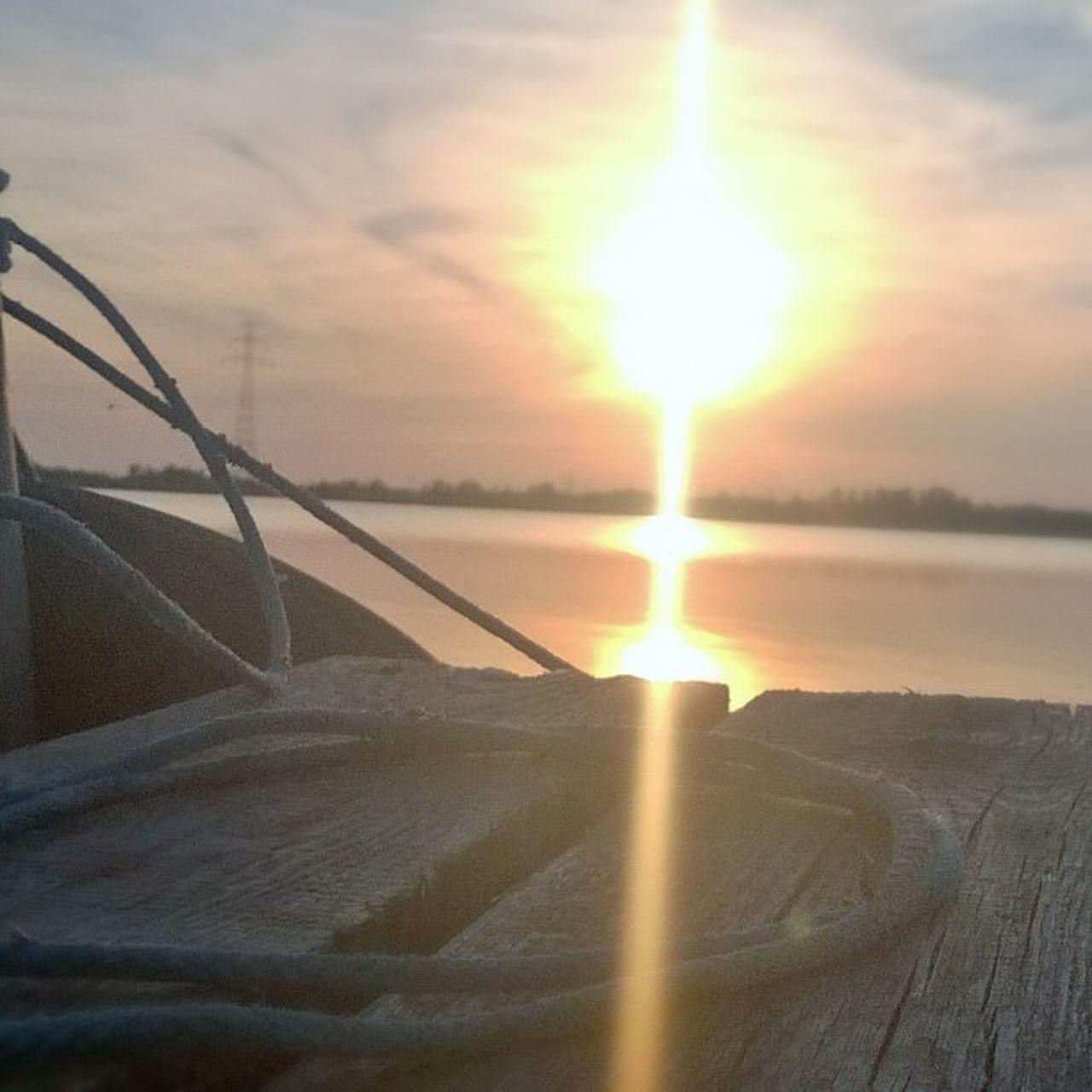 Sunset 🌇 ZalewSzczeciński Oderhaff Sea