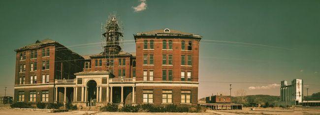 LIVESTOCK EXCHANGE ~ Saint Joseph, Missouri ~ Dreamscapes & Memories Possibly Haunted Ancient Architecture NEM Landscape