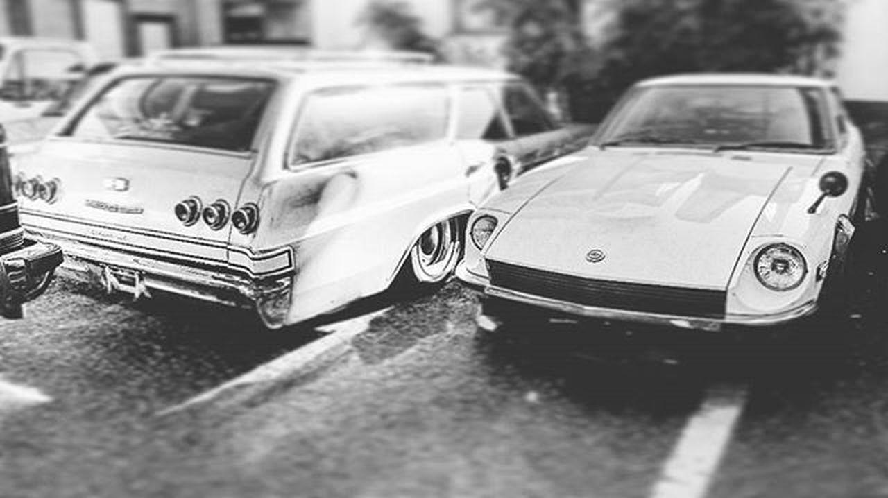 Datsun Nissan Fairlady S30  S30Z L31 L3100 N42 Weber Chevrolet Chevy 1965 Impala Impalawagon Impala65 Impalastationwagon 396 Airride Hideoutinc Hideoutworks