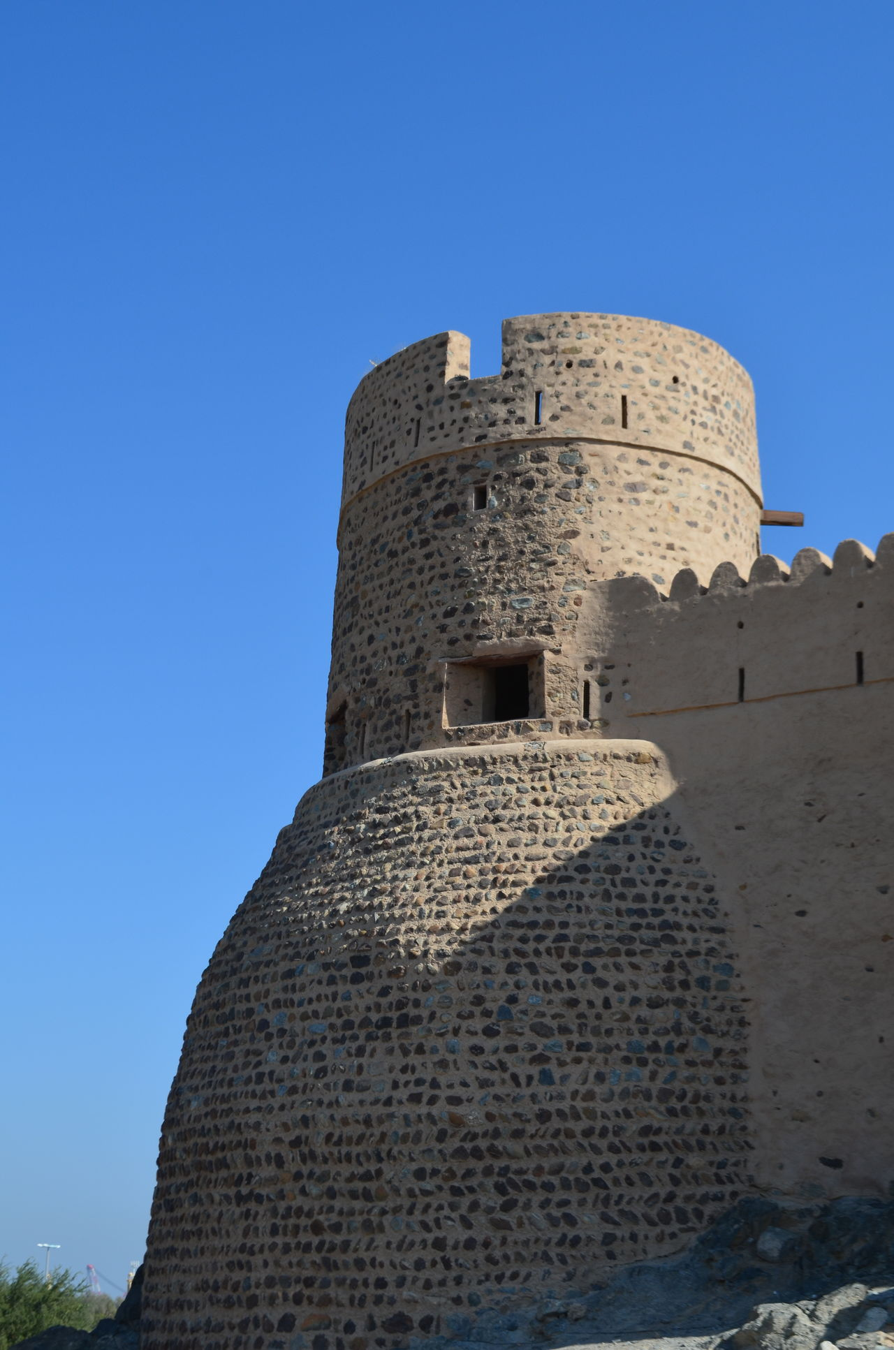 Architecture Blue Sky Built Structure Day Fort Fortress Fujairah Historical Building History Man Made Structure No People Outdoors Sky Stone UAE United Arab Emirates