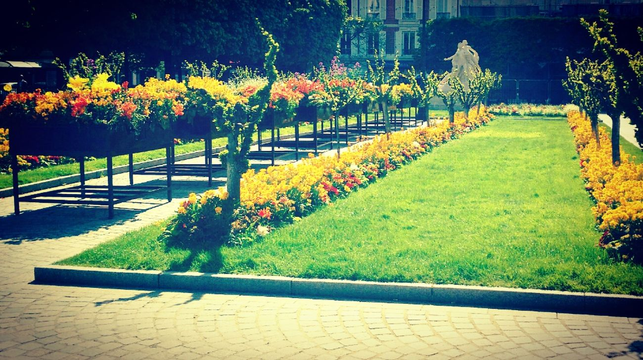 À Levallois Levallois Followme Takenbyme Picoftheday Likemypics Parc FollowMeOnInstagram Sunny Day 🌞