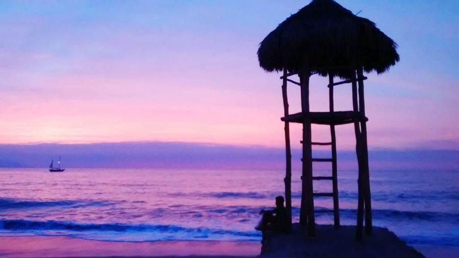 Sunset in Puerto Vallarta Sunset Hello World Relaxing Enjoying Life Beautiful Nature Beach Beachphotography