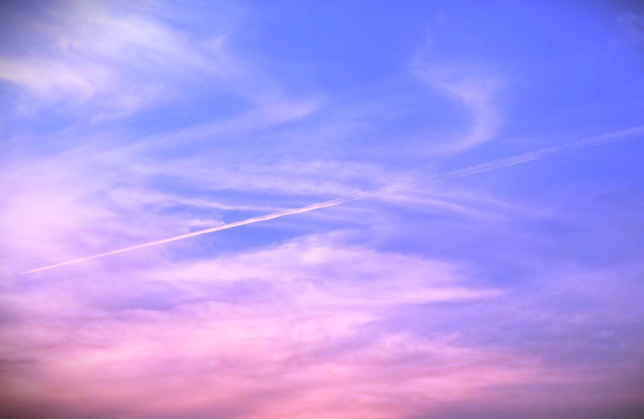 Track In The Sky Vapor Trail Contrail White Low Angle View Majestic Blue Scenics Beauty In Nature Nature Sky No People Outdoors Day