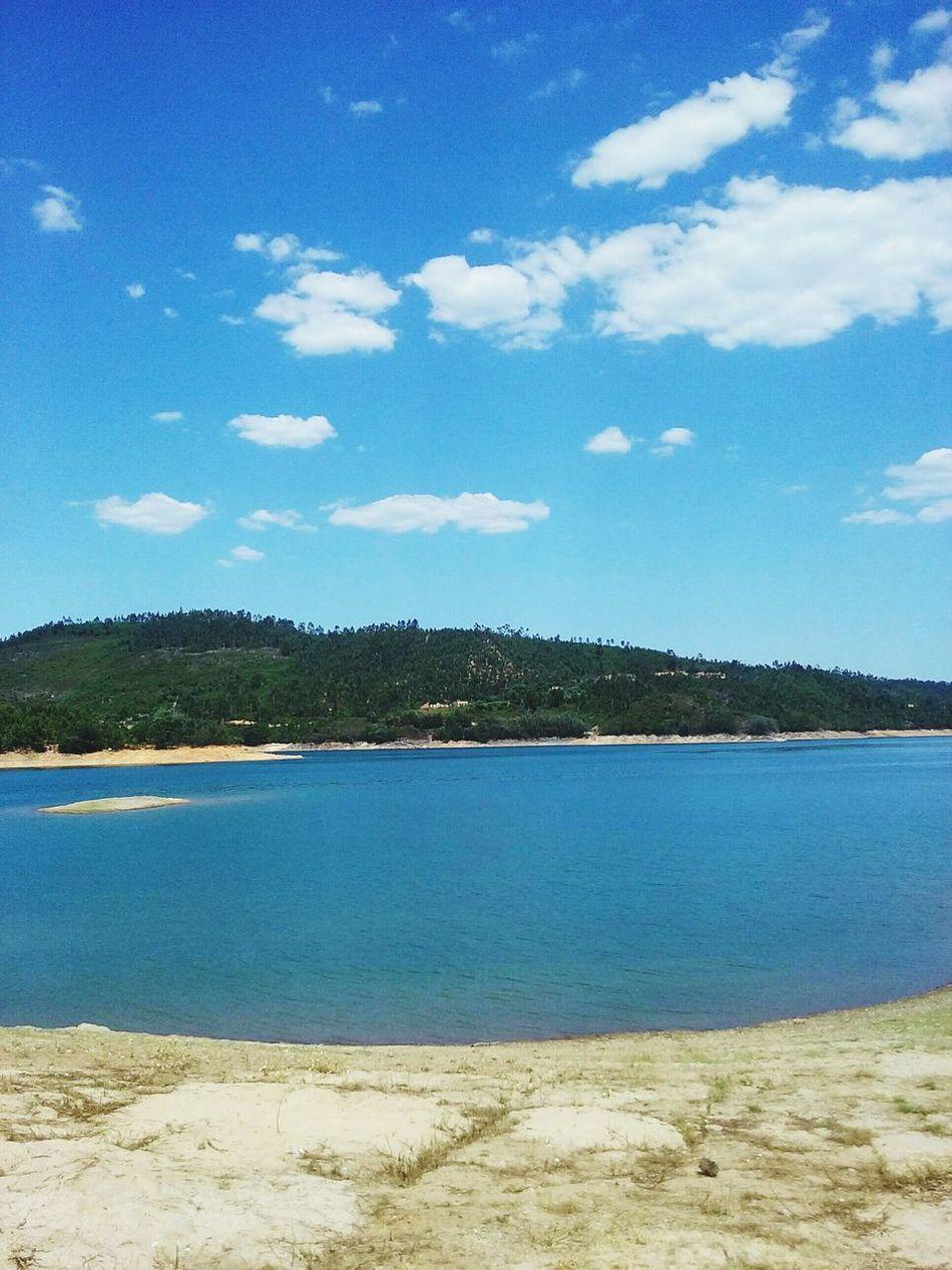 Riozezere Ferreira Do Zezere River Portugal Zezere Nature Summertime Bluesky Clouds And Sky