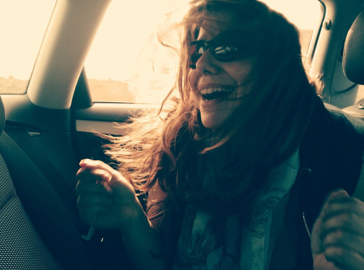 My Year My View Friendship Is Not For Ever Friendship Come And Go Carpe Diem Moments Of Happiness Womanity  Smiling Happy Time Hair Woman In The Car Capture The Moment Happiness Singing Listen To Music