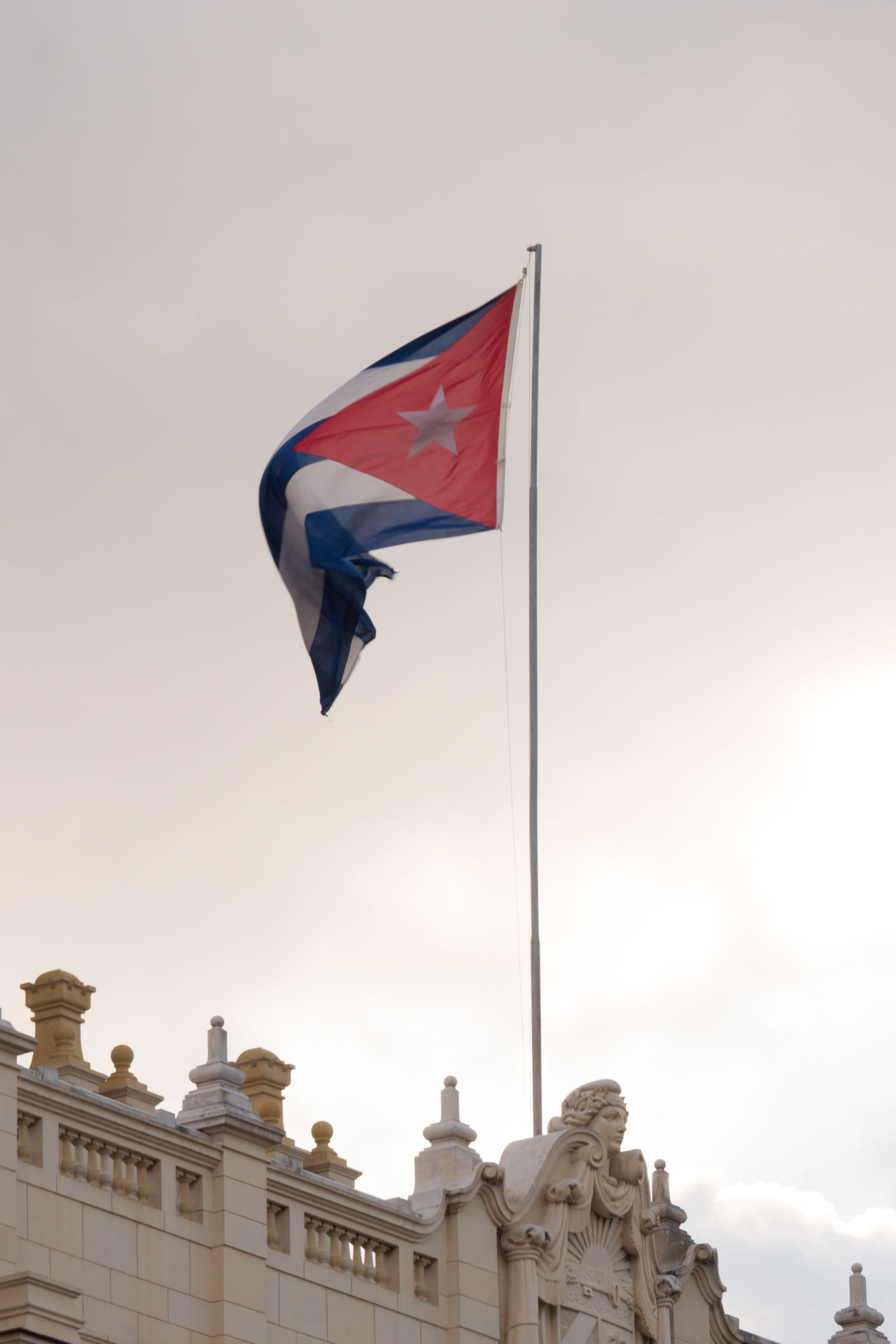 Cuban Flag Abundance Of Architecture Building Exterior Built Structure City Cityscape Cuba Cuba Collection Day Flag No People Outdoors Patriotism Sky Travel Photography Urban Skyline