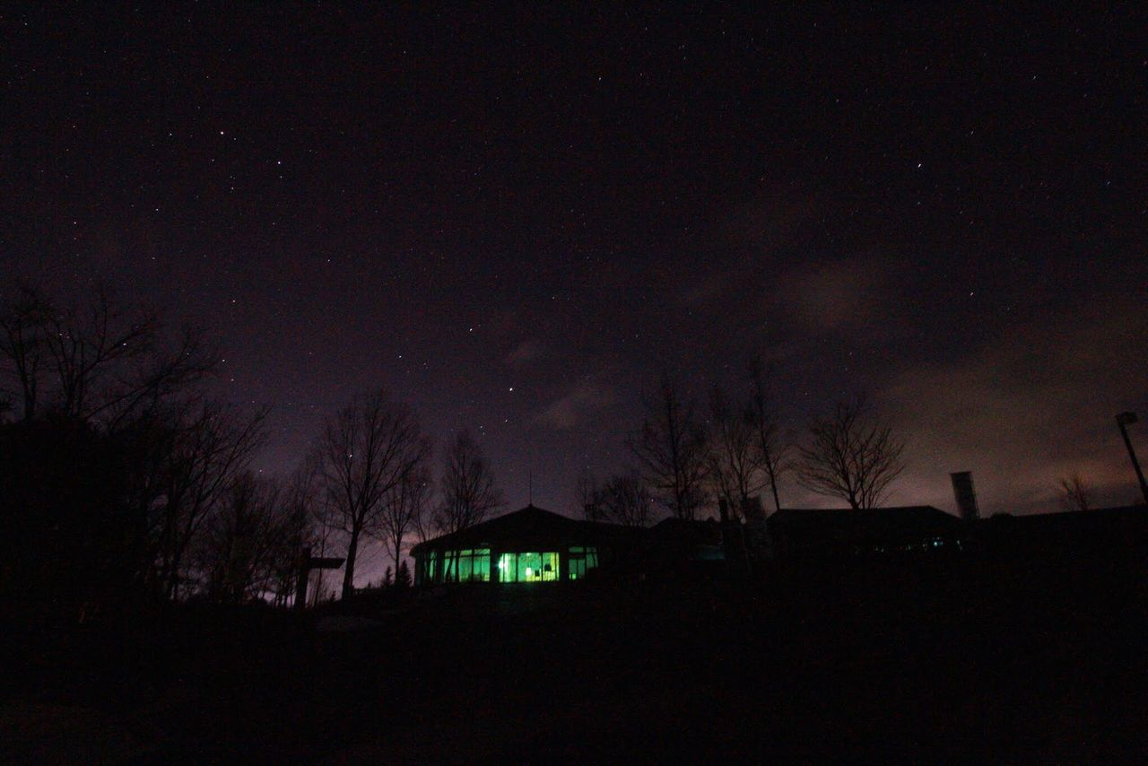 night, silhouette, dark, house, illuminated, sky, no people, outdoors, star - space, tree, building exterior, built structure, scenics, nature, beauty in nature, architecture, astronomy, starry