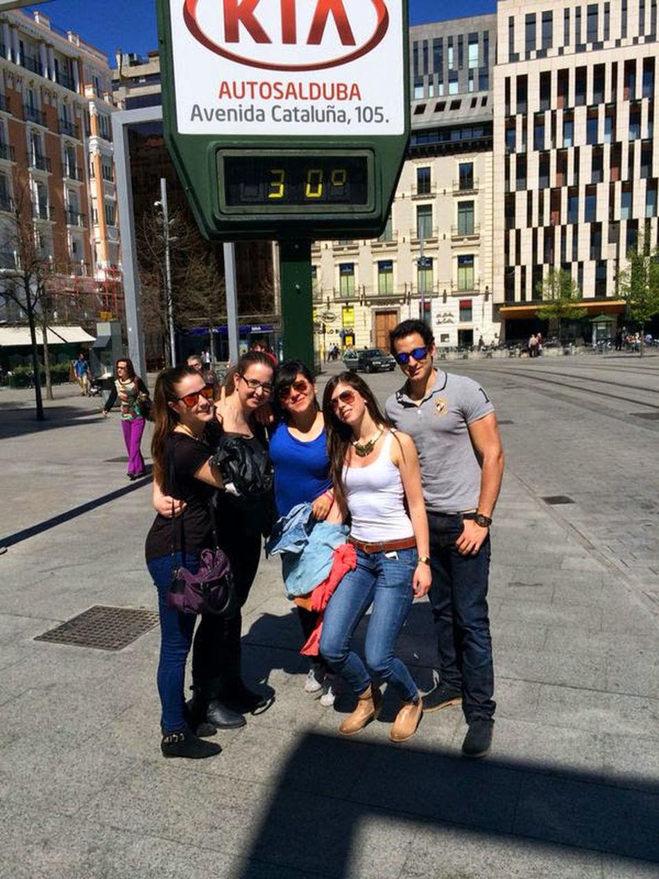 People And Places Zaragoza City Plaza De España Friends Calor!!!