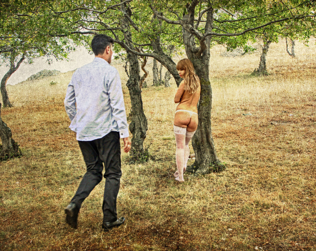 The Satyr and the Bacchante Bacchante Chaseyourdreams Couple Emotions Emotions Captured Feeling Focus On Foreground Illustration Legend Lifestyles Love Modern Mythology Mythology Outdoor Photography Outdoors People Satyr Satyricon Scene Togetherness Vision