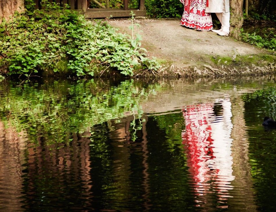 Lake Reflection Couple Wedding Wedding Photography Wedding Day Saree Nature Taking Photos Fine Art Photography Bride And Groom Man And Woman Husband And Wife