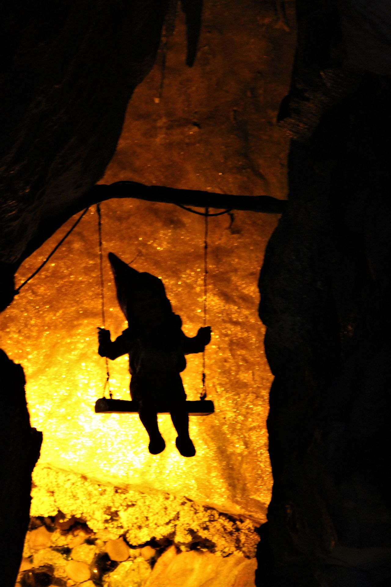 Animal Themes Cave Chattanooga Tennessee Day Gnome Lookout Mountain Nature No People Orange Color Silhouette Tennessee Vacations Water