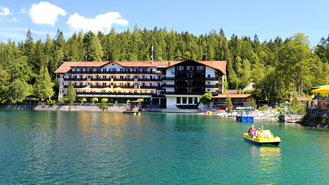 Mountains Lake Hotel Boat Crystal Clear Germany Traveling Travel Travel Photography Sunny Day