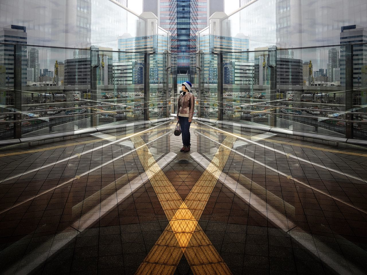 Reflections  The Architect - 2017 EyeEm Awards The Street Photographer - 2017 EyeEm Awards Street EyeEmNewHere Portrait Girl Woman Portrait Of A Woman Building Buildings Architecture Architecture_collection Architectural Detail Streetphoto_color Street Fashion Streetphotography Street Photography Light And Shadow Reflection Reflections Art Beautiful Pattern Urban Geometry Urban