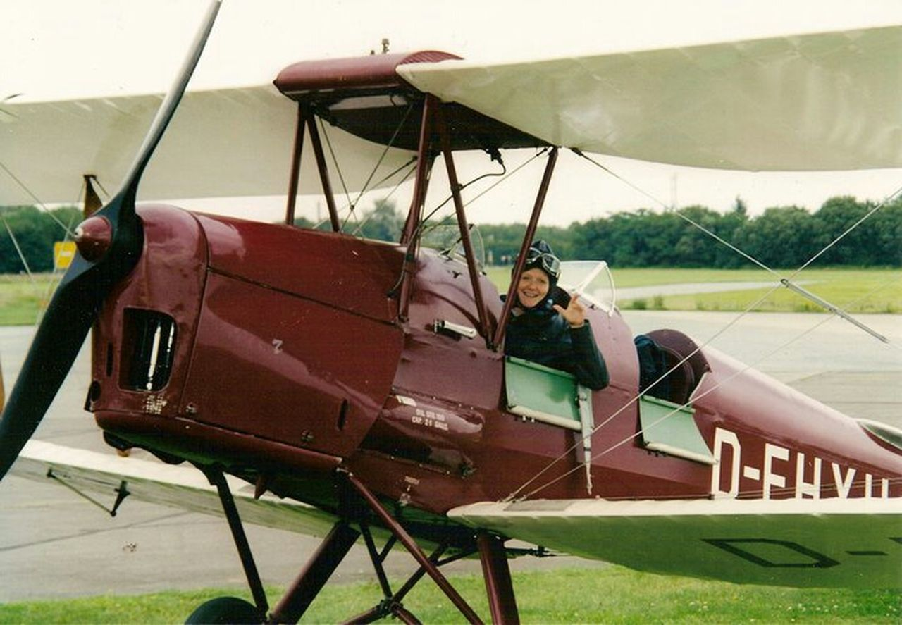 It's Me Flying Plane Adventure Have A Nice Day♥ Having Fun Oldtimer Birthday Present Cool Let's Go. Together.