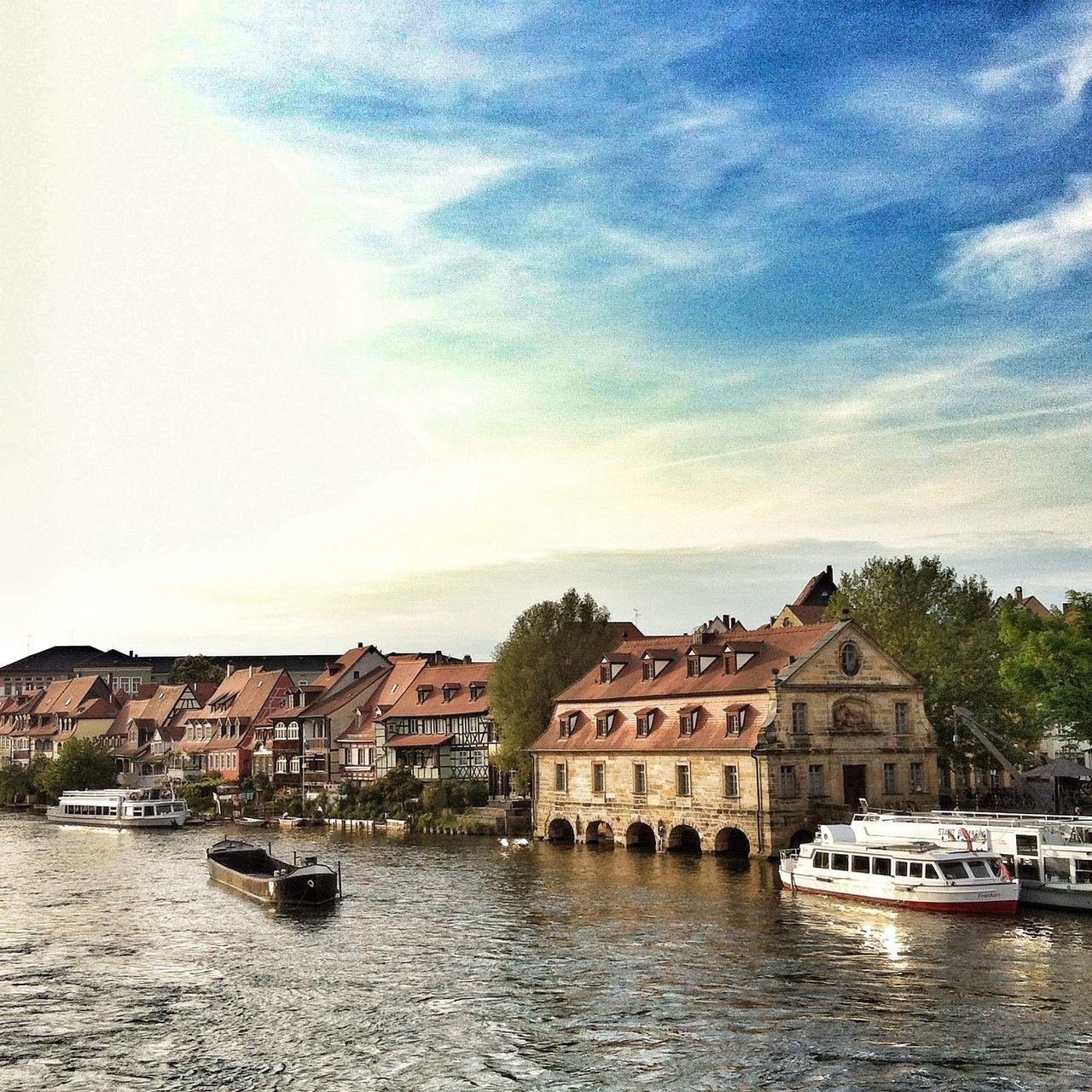 Waterfront Am Kranen & Klein-Venedig at the River Regnitz