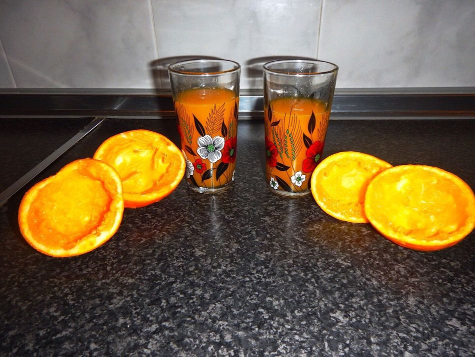 Orange Color Orange - Fruit Food And Drink Fruit Drink High Angle View Refreshment Drinking Glass Freshness Orange Fresh Juice Vitamin C Fresh Orange Juice Healthy Fresh Oranges Orange Juice  Vitamins Healthy Food Oranges Indoors  Table Orange Juice  Healthy Eating No People Day