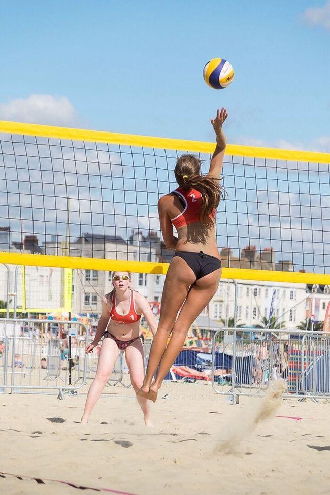 Beachvolleyball Beachvolley Beach Beachlife Weymouth Weymouth Beach Weymouth Dorset Volleyball Volleyball Girls Volleyball Tournament