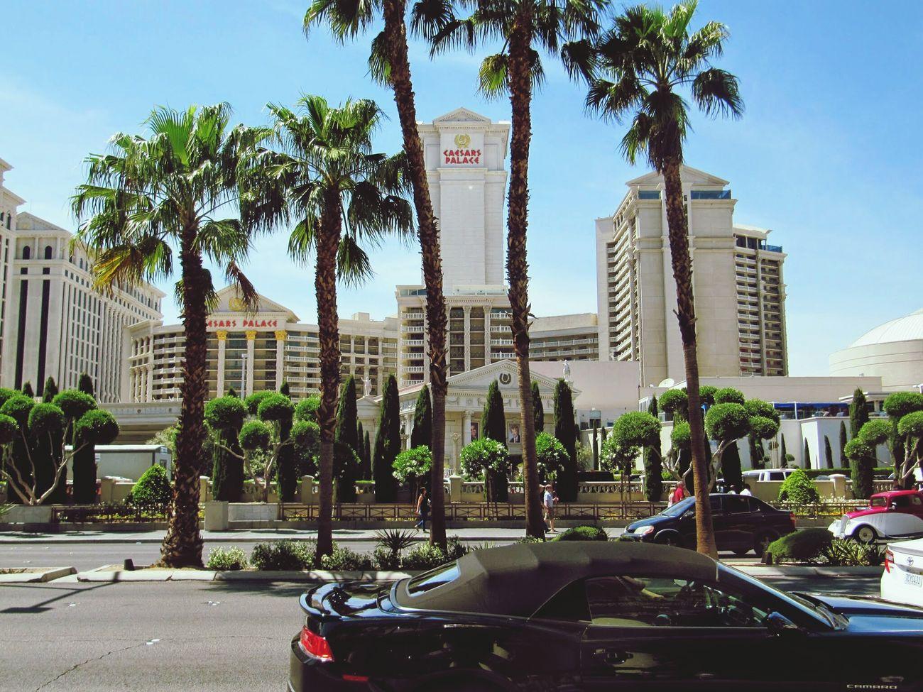 A Las Vegas en vue du Caesarspalace Sunnyday Traveling USA Architecture Mythical