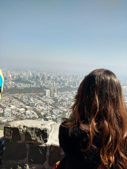 Cerro San Cristóbal Urban Skyline Sky Cityscape Day One Person Santiago De Chile My 2016 Travel Planner Lost In The Landscape