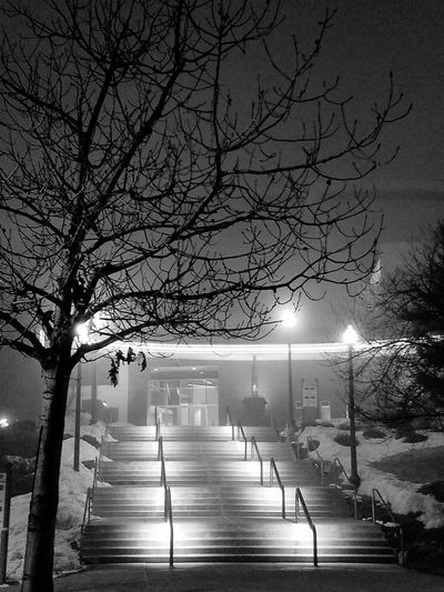 Spokane Washington Blackandwhite Photography Night Lights Black & White Black And White Collection  Black And White Photography Washington State Night View Spokane Arena